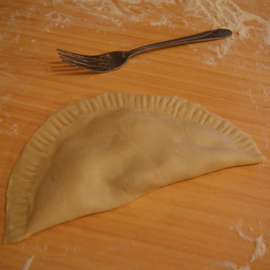 накрыть тесто половиной